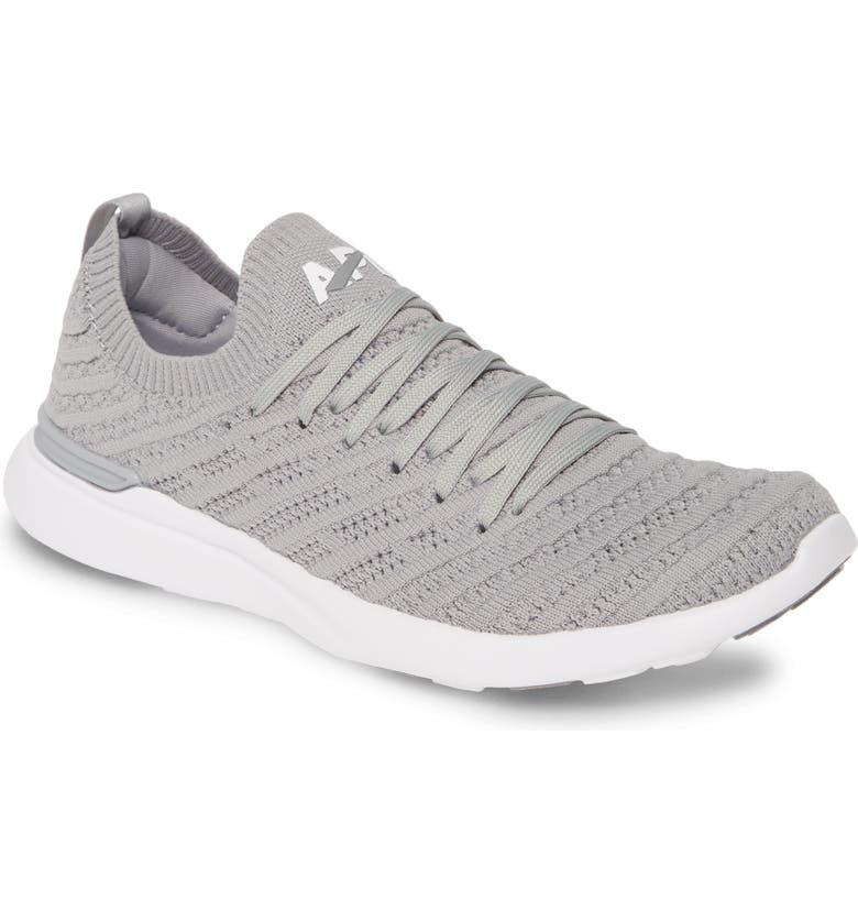 APL TechLoom Wave Hybrid Running Shoe, Main, color, CEMENT/ WHITE