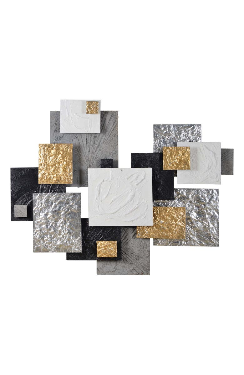 RENWIL Warberry Geometric Wall Art, Main, color, GREY MULTI