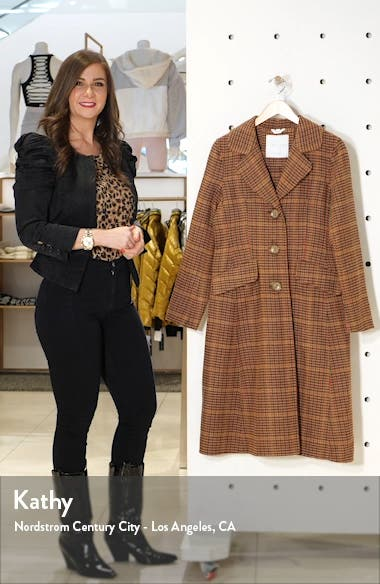 Jimi Houndstooth Flare Coat, sales video thumbnail