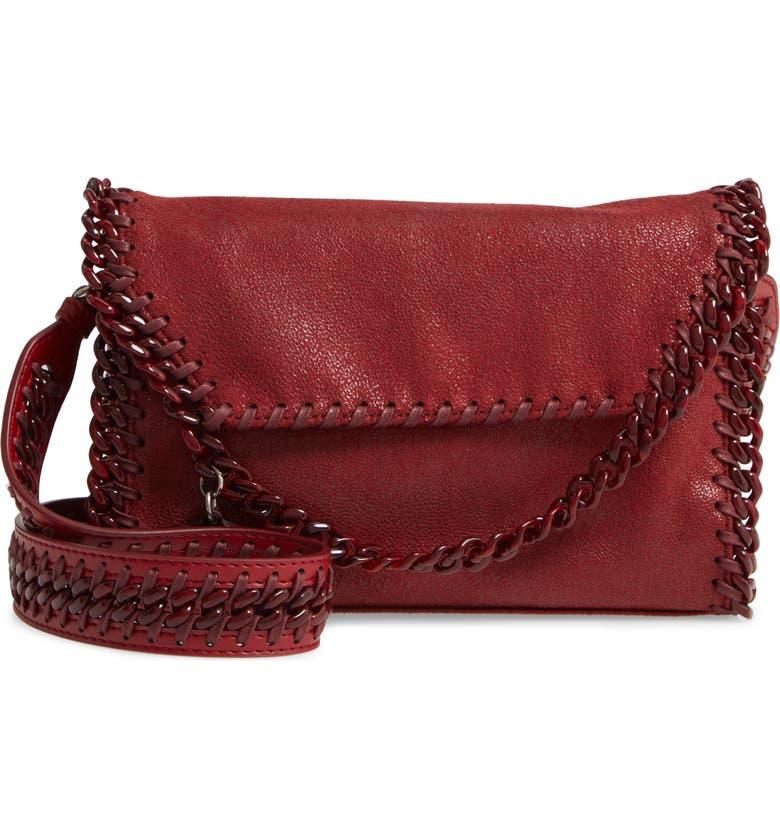 STELLA MCCARTNEY Mini Falabella Shaggy Faux Leather Shoulder Bag, Main, color, 600