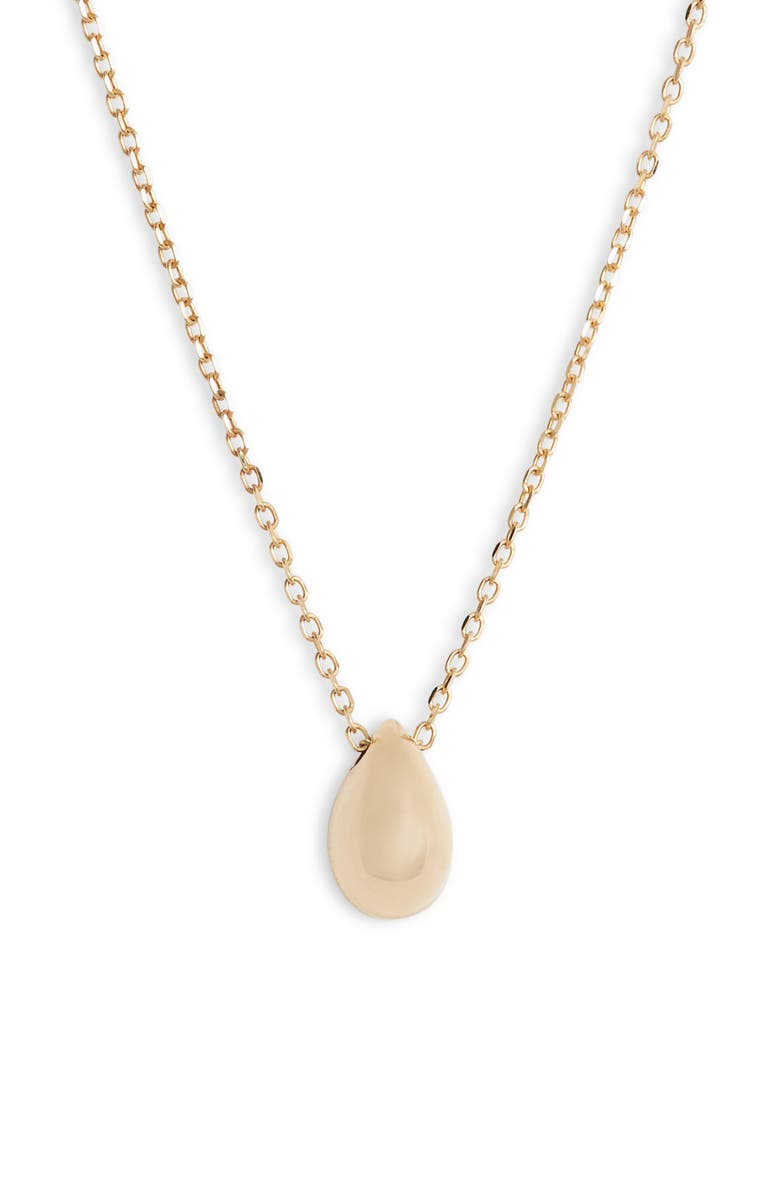 BONY LEVY Pear Pendant Necklace, Main, color, YELLOW GOLD