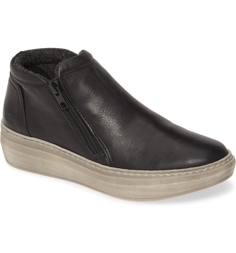 CLOUD Qupid Wool Lined Sneaker, Main, color, BLACK LEATHER