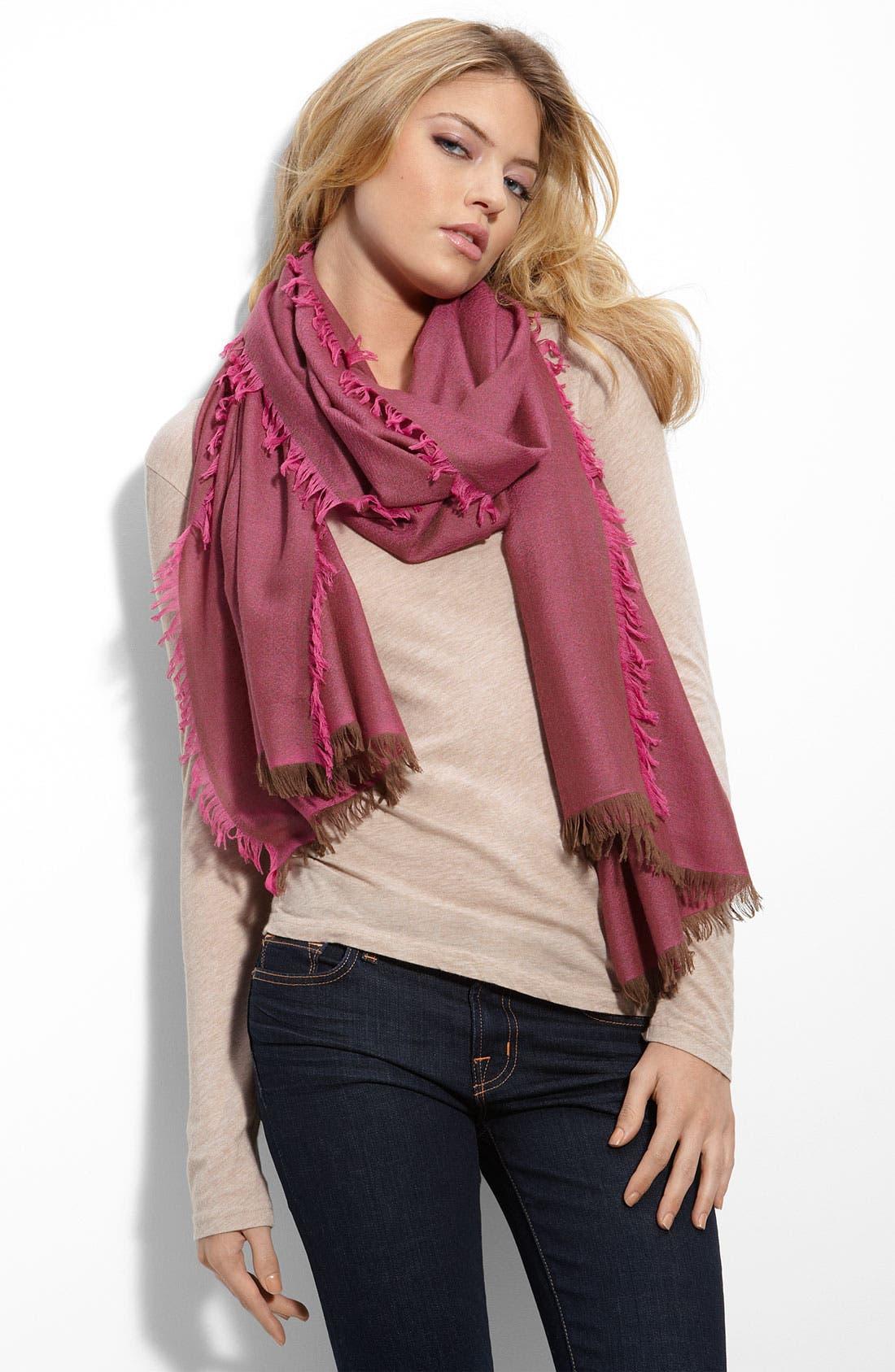 ,                             'Eyelash' Colorblock Cashmere Wrap,                             Main thumbnail 93, color,                             656