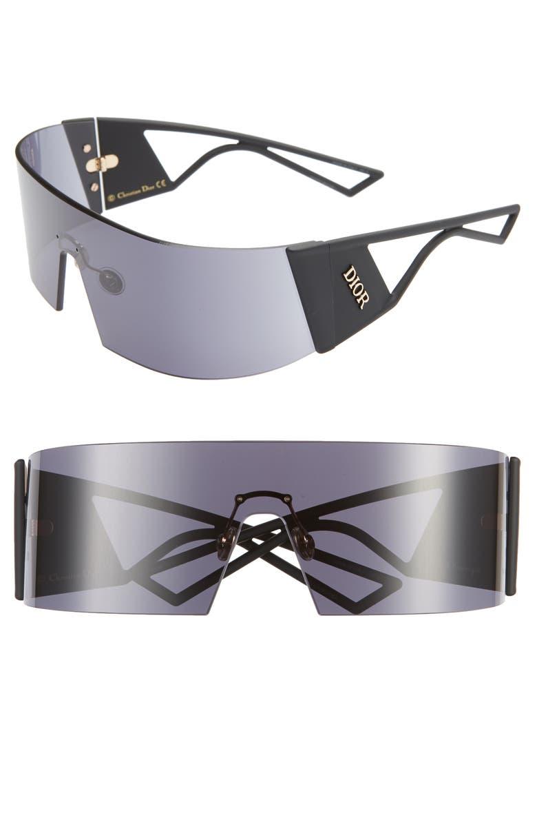DIOR Kaleidiors 99mm Shield Sunglasses, Main, color, BLACK/ GREY