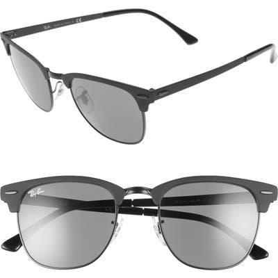 Ray-Ban Clubmaster 51Mm Sunglasses - Shiny Black