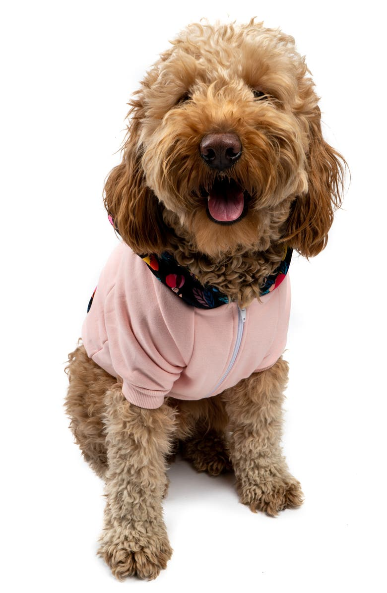 LUCY AND CO Lucy & Co. The Millennial Floral Dog Hoodie, Main, color, MILLENNIAL FLORAL