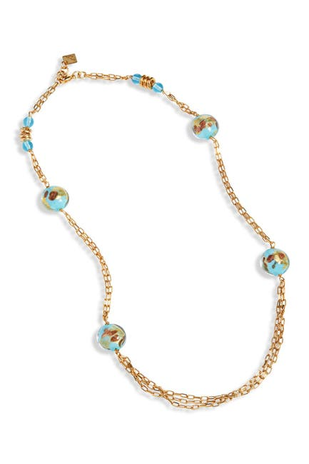 Image of Savvy Cie Murano Glass Station Necklace