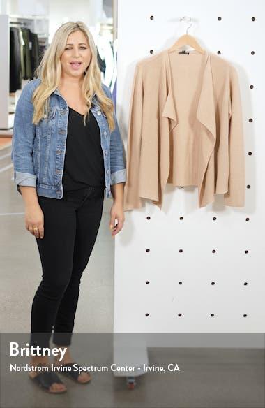 Drape Front Organic Linen & Cotton Cardigan, sales video thumbnail