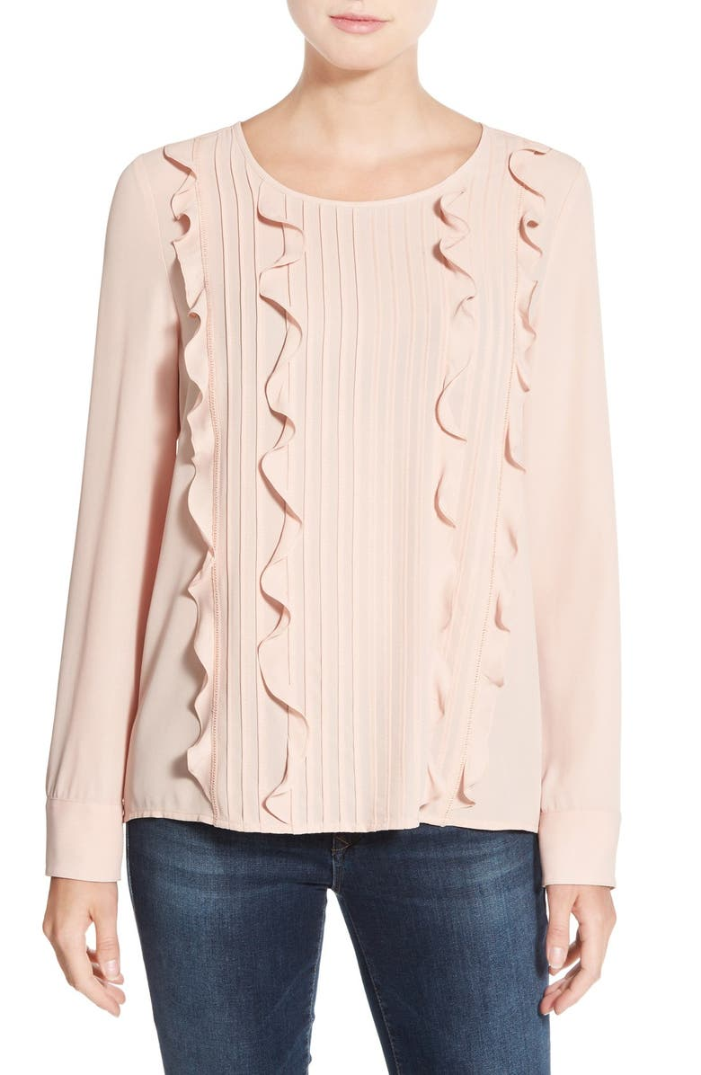 HALOGEN<SUP>®</SUP> Ruffle Front Blouse, Main, color, 680