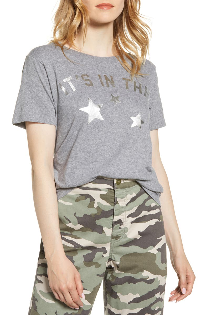 J.CREW It's in the Stars Tee, Main, color, HEATHER GRAPHITE