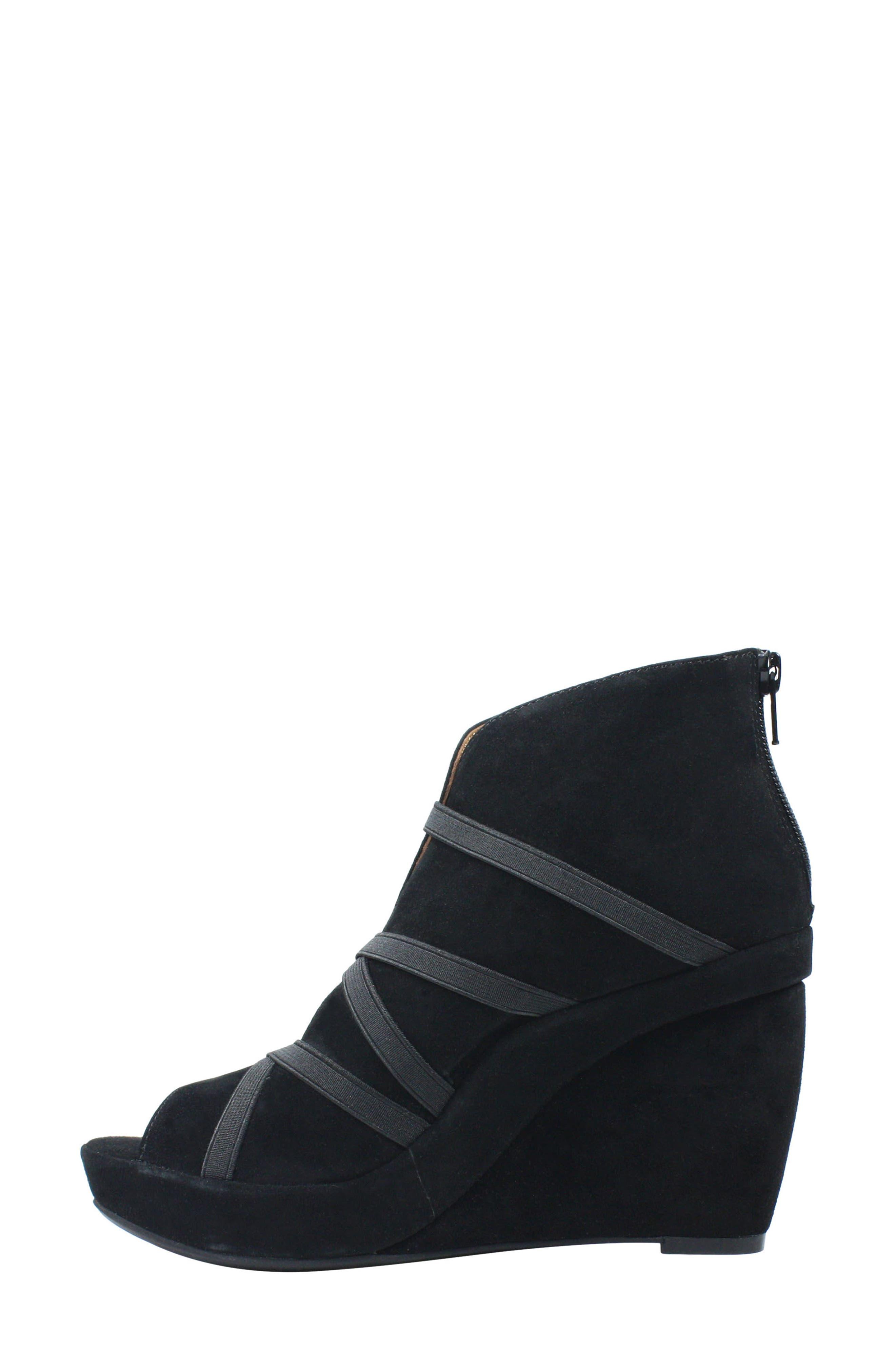 ,                             Icelos Wedge Bootie,                             Alternate thumbnail 3, color,                             BLACK SUEDE