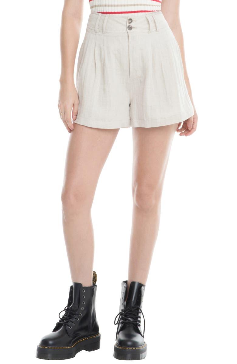 ASTR THE LABEL Sophia Linen & Cotton Shorts, Main, color, 250