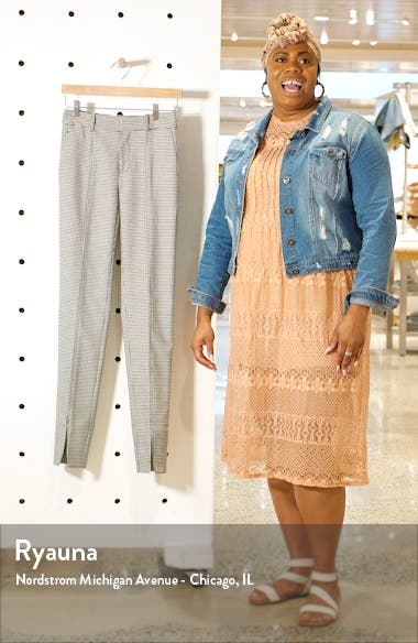 Front Slit Houndstooth Pants, sales video thumbnail