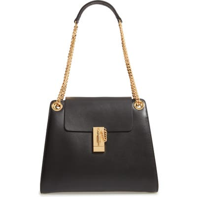Chloe Annie Medium Leather Shoulder Bag - Black