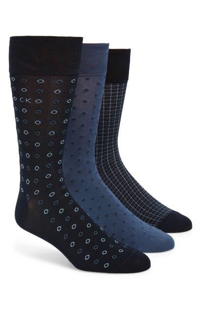 Calvin Klein Socks 3-PACK MERCERIZED COTTON BLEND SOCKS