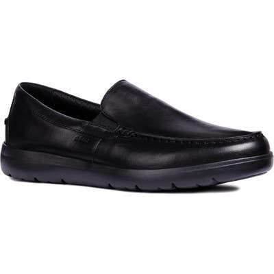 Geox Leitan 6 Moc Toe Slip-On, Black