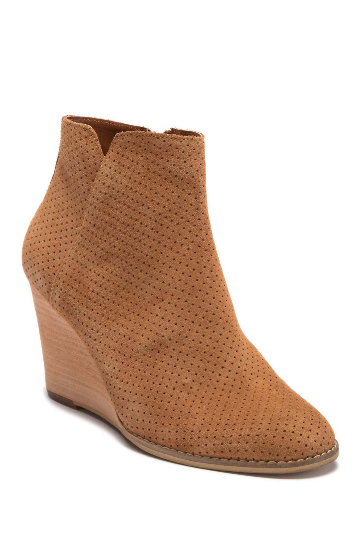 SUSINA | Hannon Leather Wedge Bootie