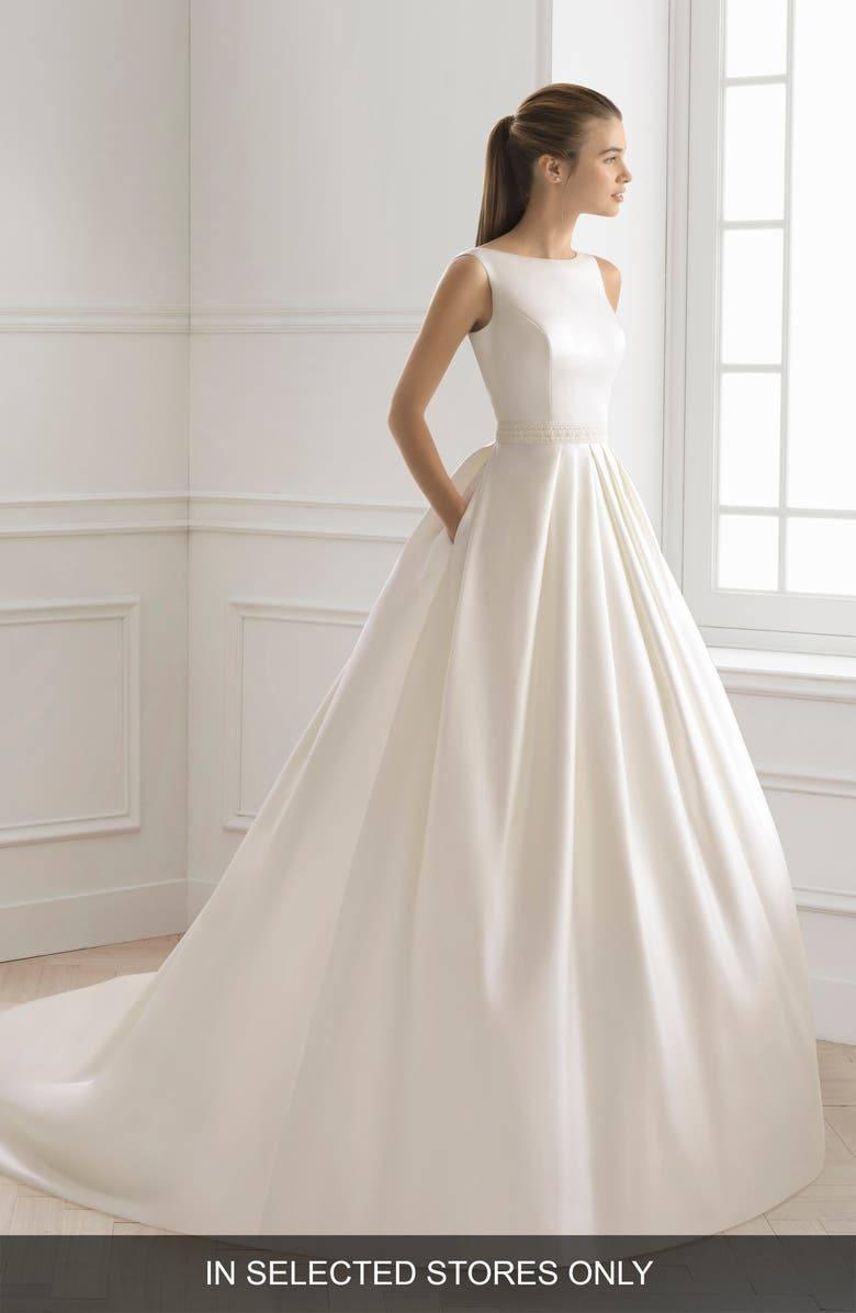 AIRE BARCELONA Bliss Ballgown Wedding Dress, Main, color, NATURAL