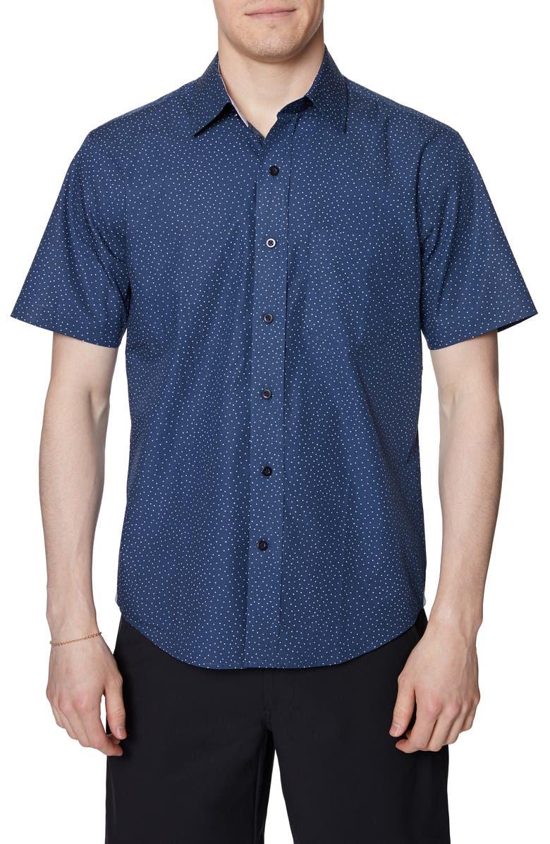 HICKEY FREEMAN Regular Fit Cotton Shirt, Main, color, MIDNIGHT