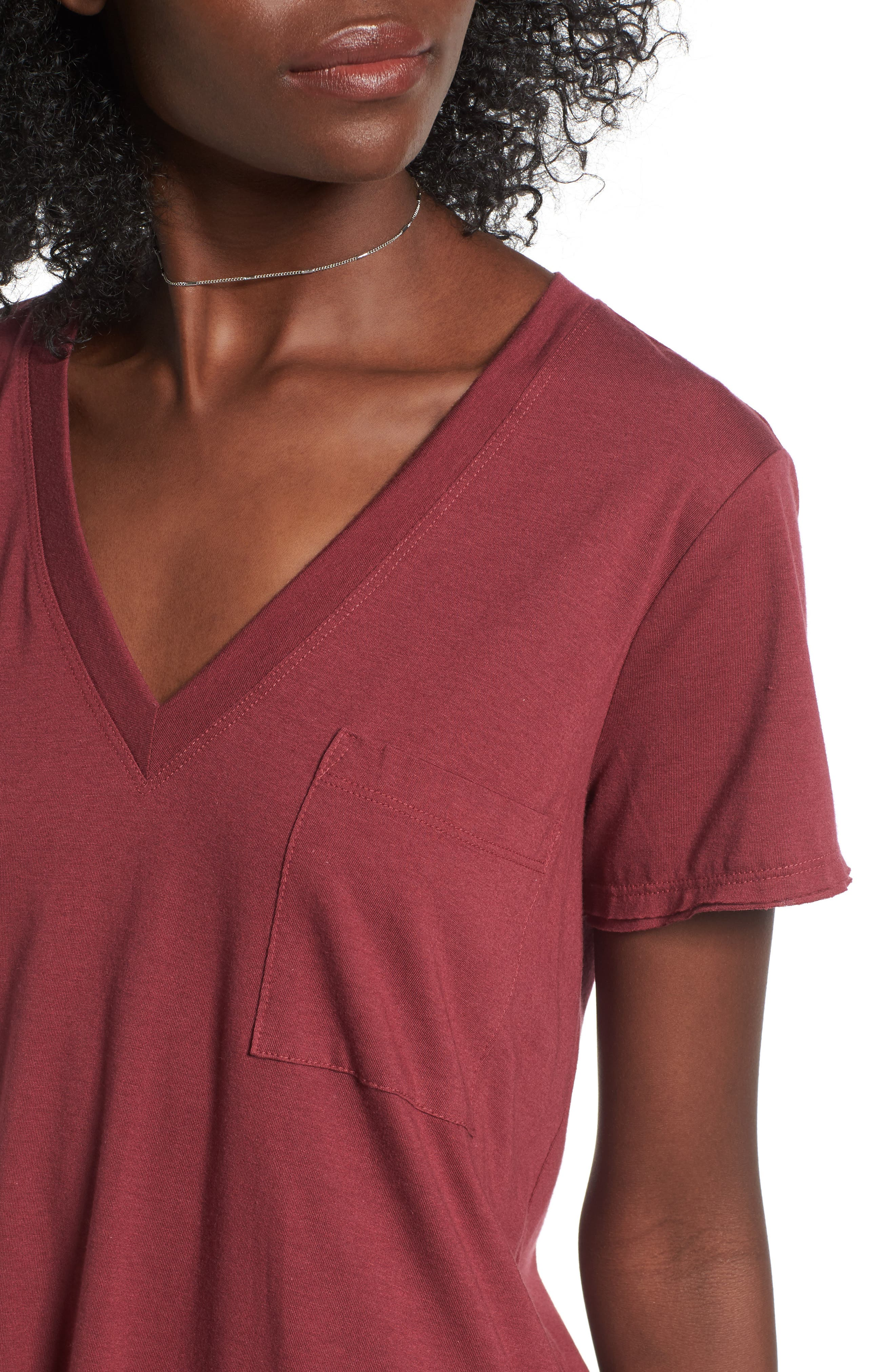 ,                             Raw Edge Side Slit Tee,                             Alternate thumbnail 45, color,                             930