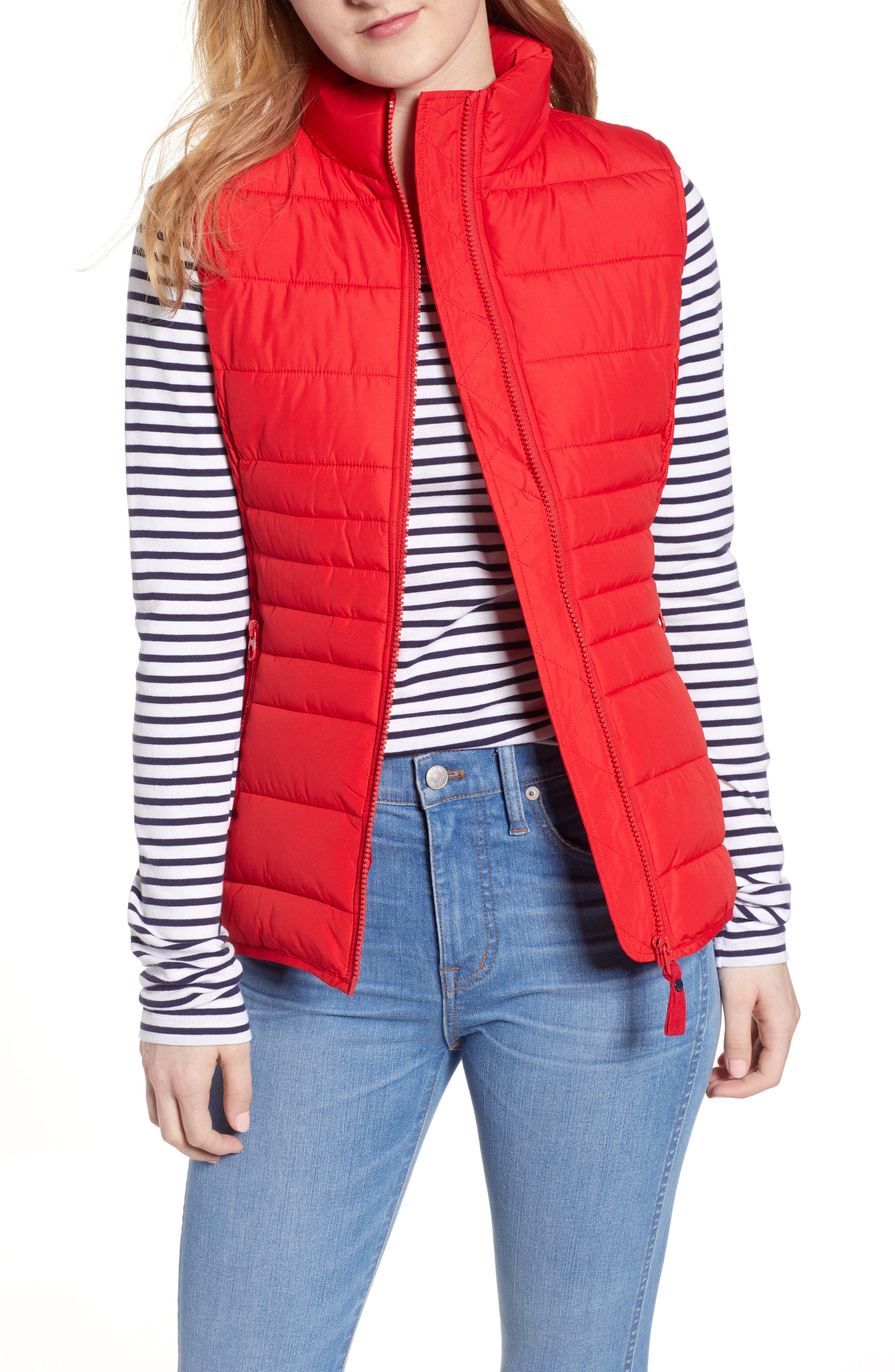 Joules Fallow Quilted Vest, US / 16 UK - Red