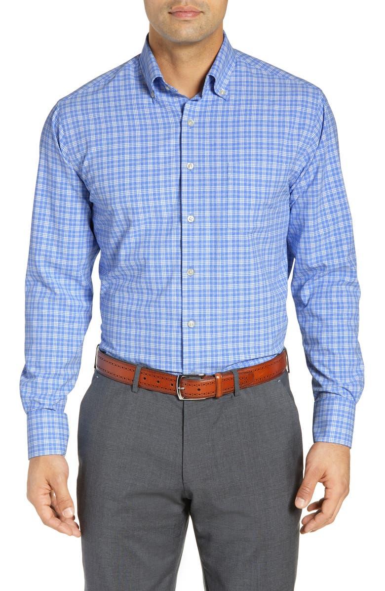 PETER MILLAR Natural Touch Regular Fit Sport Shirt, Main, color, 400