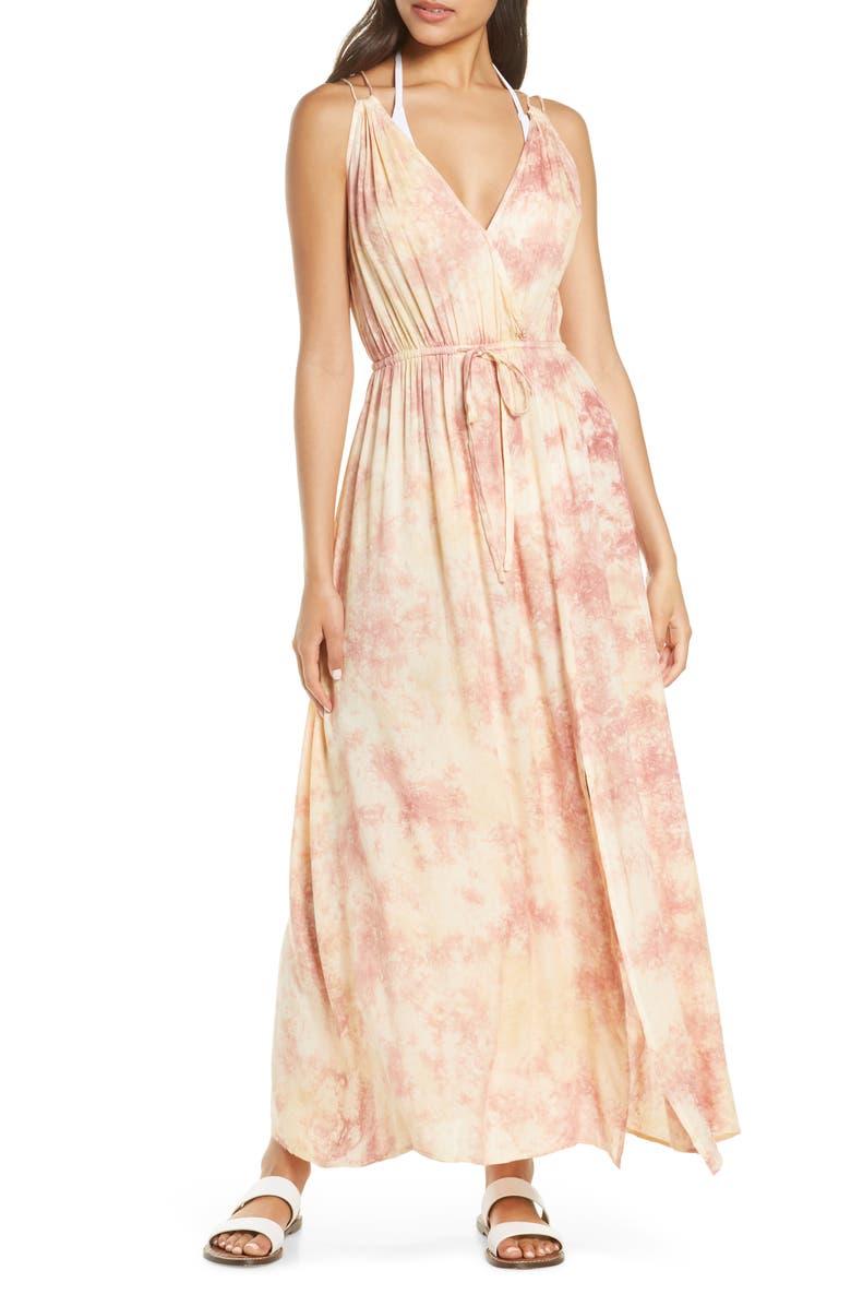 ELAN Cover-Up Maxi Dress, Main, color, MAUVE CLOUDY TD