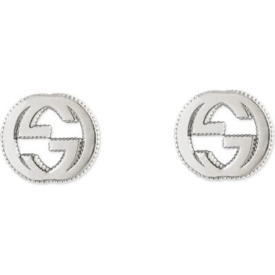 Gucci Silver Interlocking-G Stud Earrings