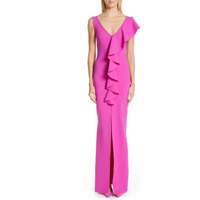 Chiara Boni La Petite Robe Boudicea Ruffle Evening Dress, US / 42 IT - Purple