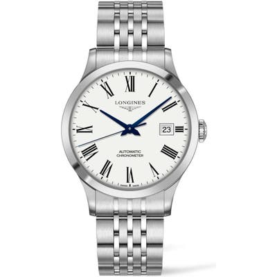 Longines Record Automatic Bracelet Watch, 40Mm