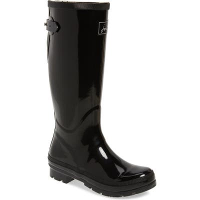Joules Tall Welly Waterproof Rain Boot, Black