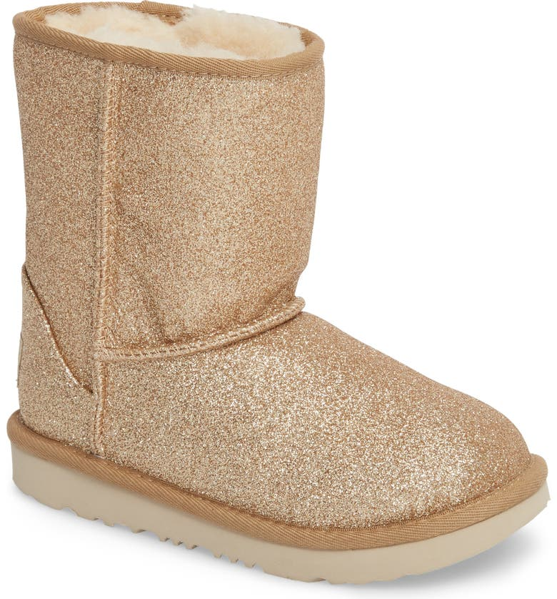 UGG<SUP>®</SUP> Classic Short II Glitter Boot, Main, color, 710