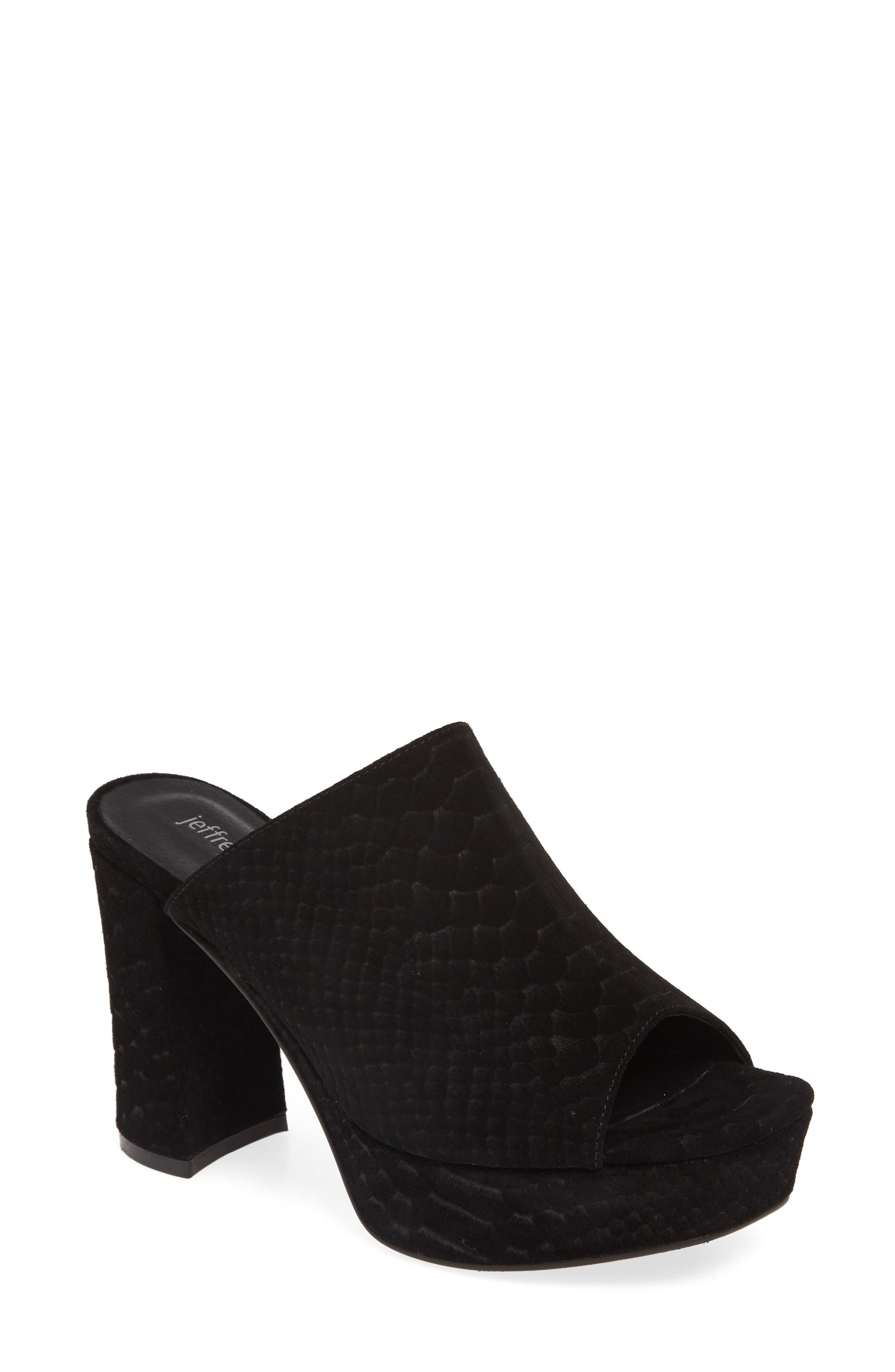 Pilar 2 Platform Slide Sandal, Main, color, BLACK MATTE SNAKE PRINT
