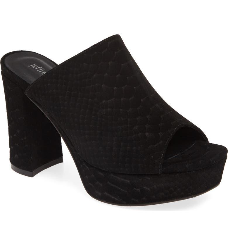 JEFFREY CAMPBELL Pilar 2 Platform Slide Sandal, Main, color, BLACK MATTE SNAKE PRINT