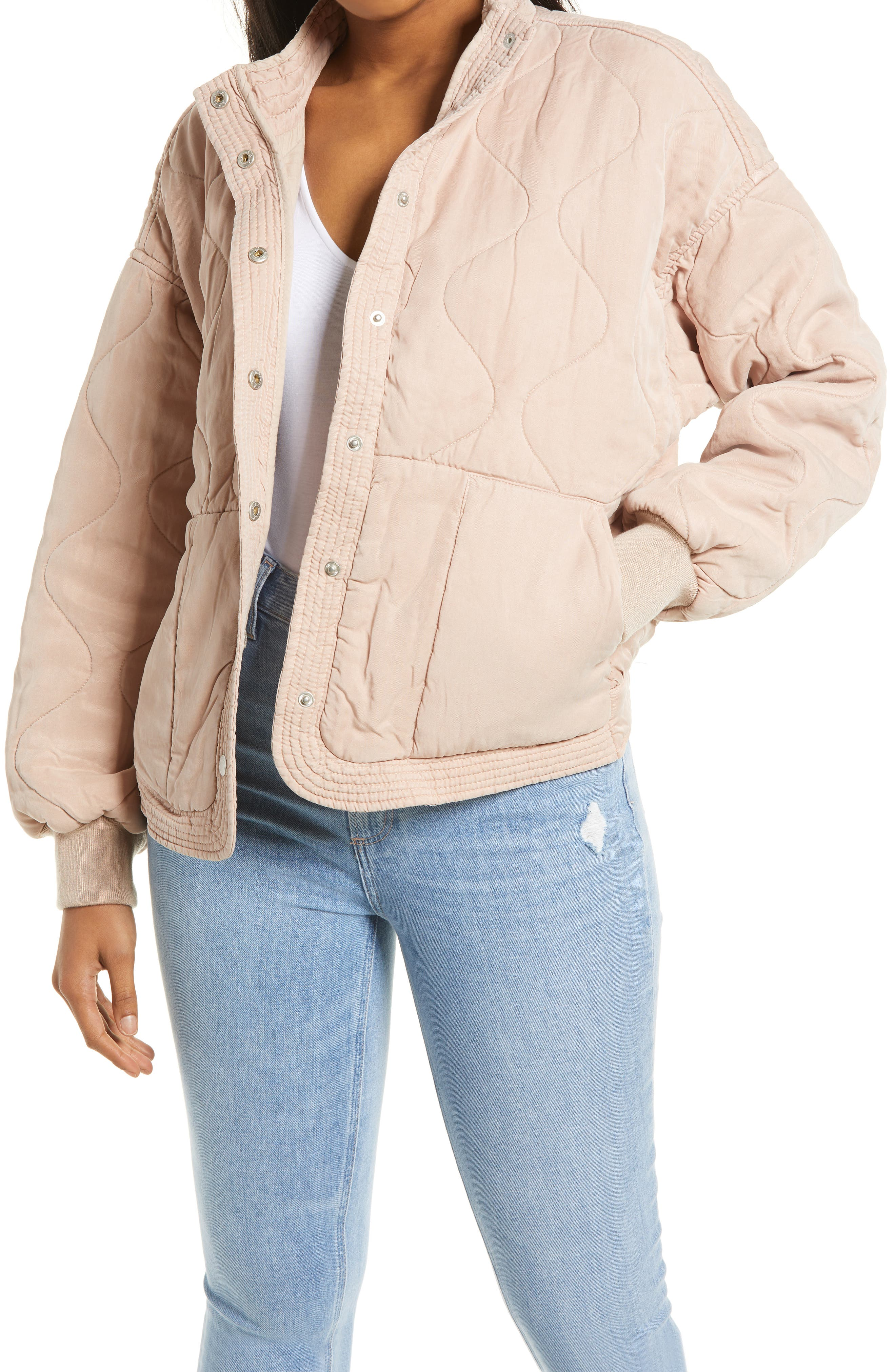 Women's Blanknyc Quilted Jacket, Size X-Small - Beige