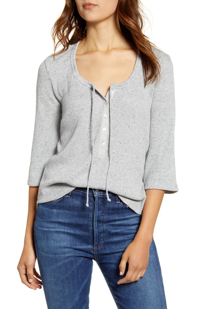 Three Quarter Sleeve Thermal Top by Lucky Brand