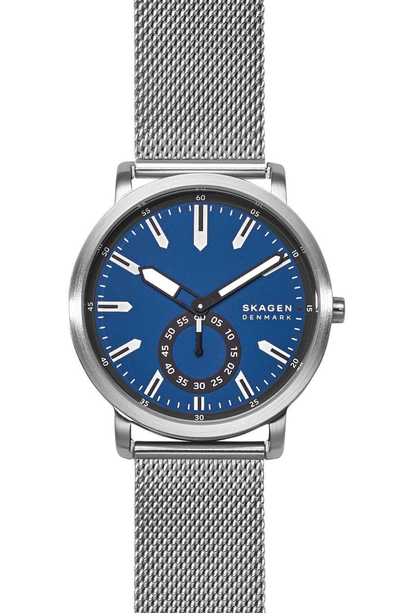 SKAGEN Colden Mesh Bracelet Watch, 40mm, Main, color, 040