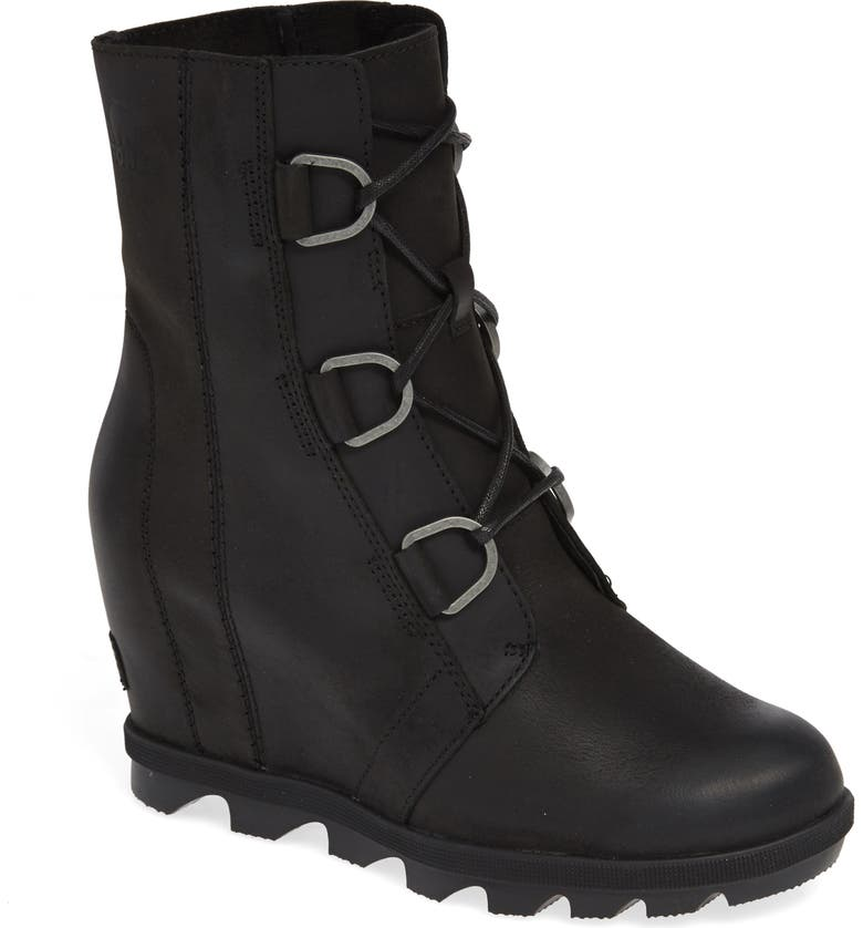 SOREL Joan of Arctic II Waterproof Wedge Boot, Main, color, BLACK
