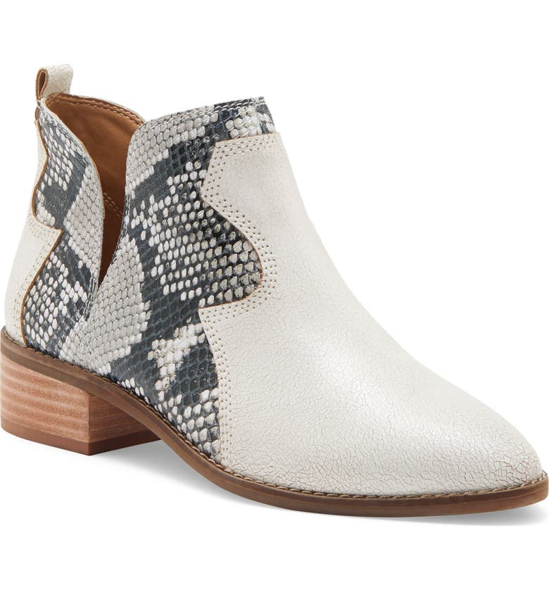 LUCKY BRAND Leymon Western Bootie, Main, color, MILK LEATHER