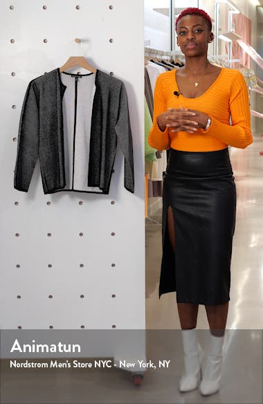 Textured Silk & Organic Cotton Cardigan, sales video thumbnail