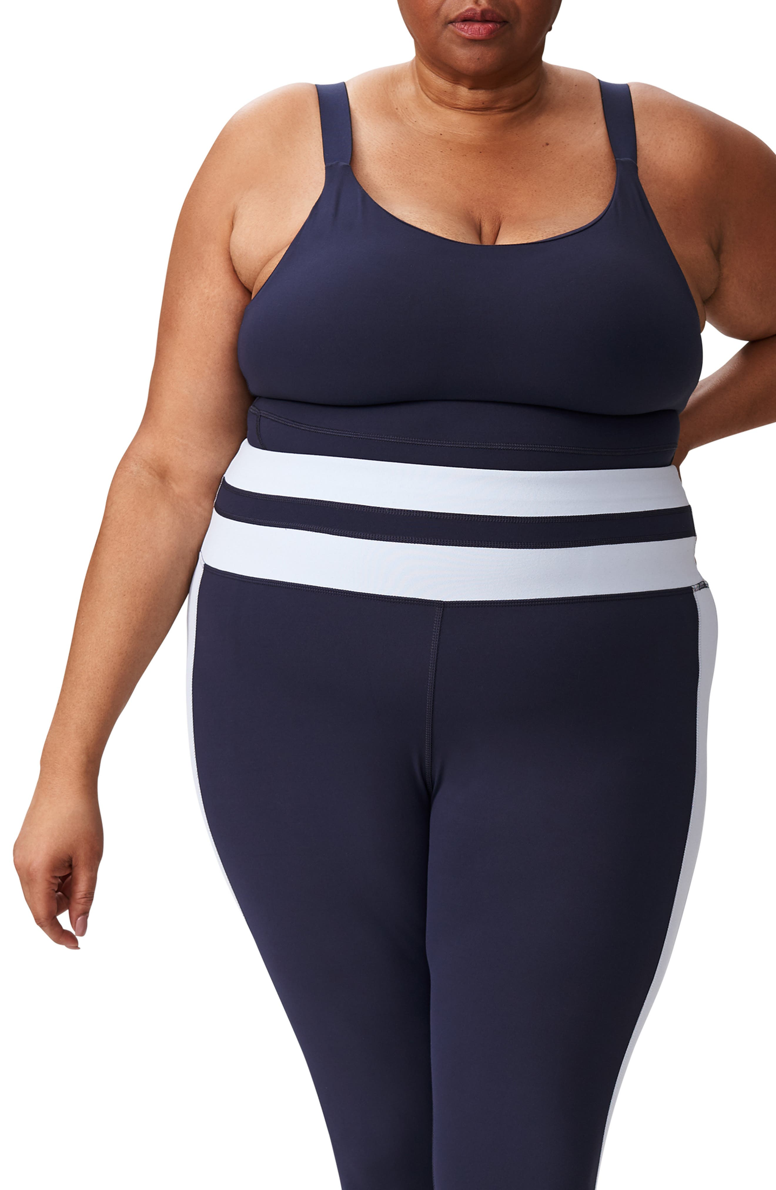 Plus Size Universal Standard Ace Contrast Panel Leggings, Size L (2-2) - Blue