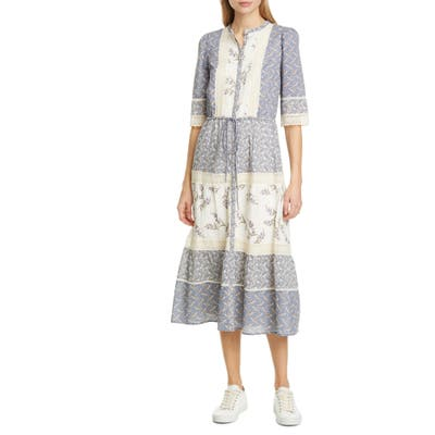 La Vie Rebecca Taylor Woodblock Lace Dress, Ivory
