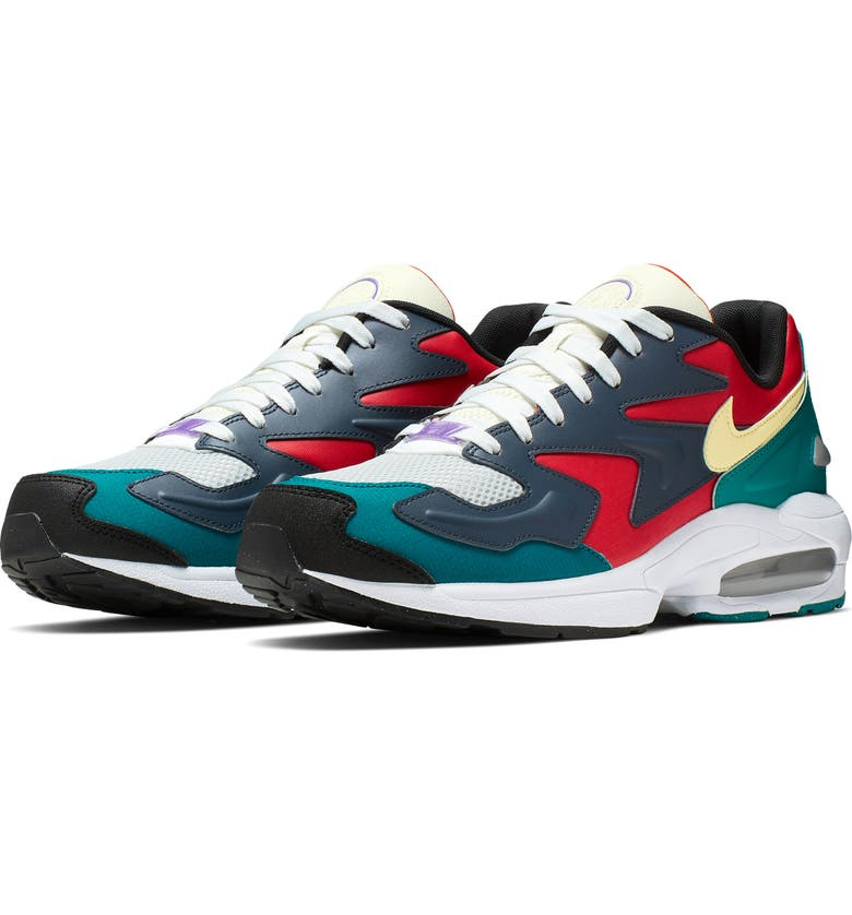 NIKE Air Max2 Light SP Sneaker, Main, color, HABANERO RED/ ARMORY NAVY