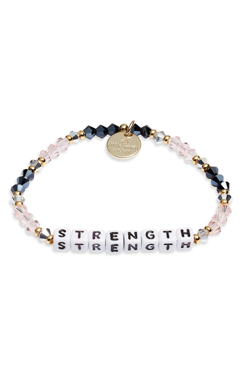 LITTLE WORDS PROJECT Strength Bracelet, Main, color, 100