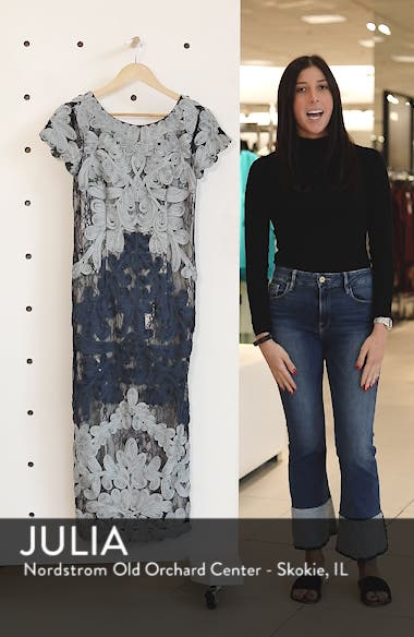 Soutache Lace Midi Dress, sales video thumbnail