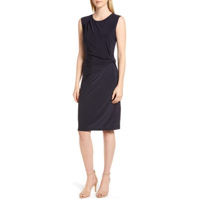 Nic+Zoe Twist Side Matte Jersey Dress, Blue