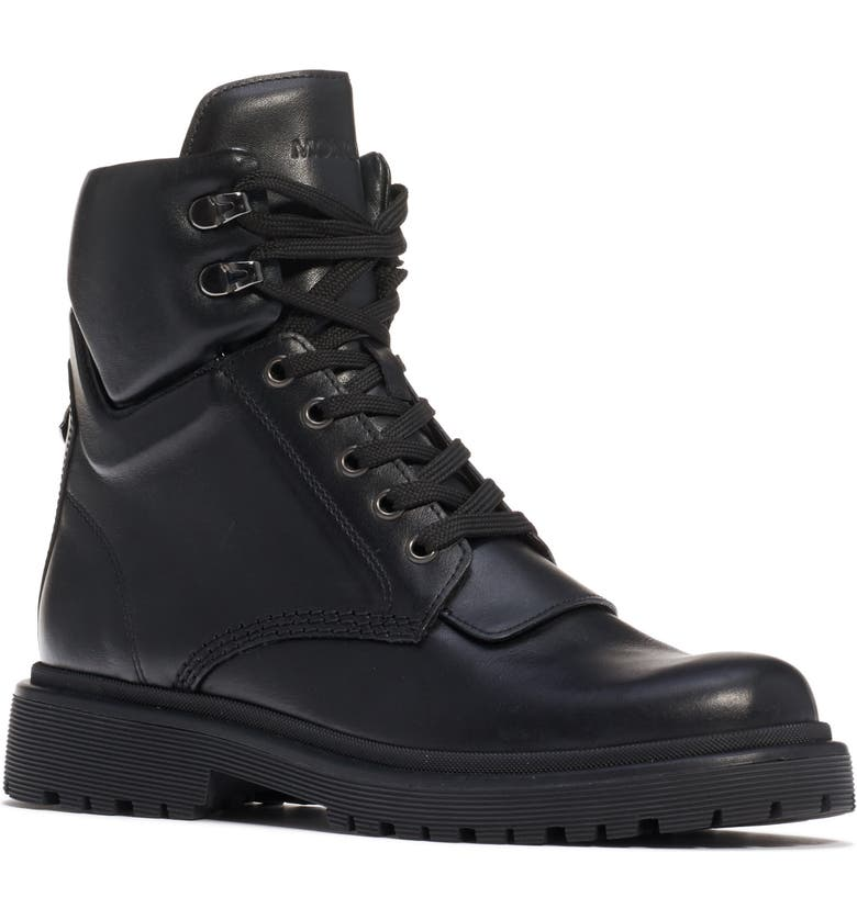 MONCLER Patty Combat Boot, Main, color, BLACK