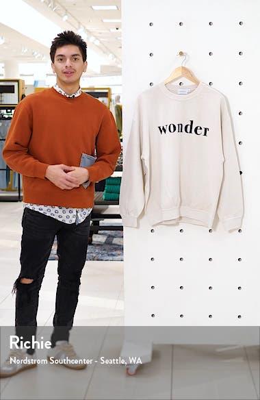 Flocked Wonder Oversize Crewneck Sweatshirt, sales video thumbnail