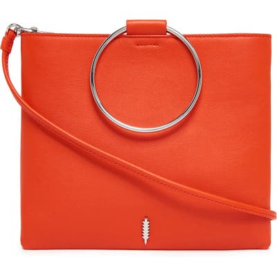 Thacker Le Pouch Ring Handle Leather Shoulder Bag - Red