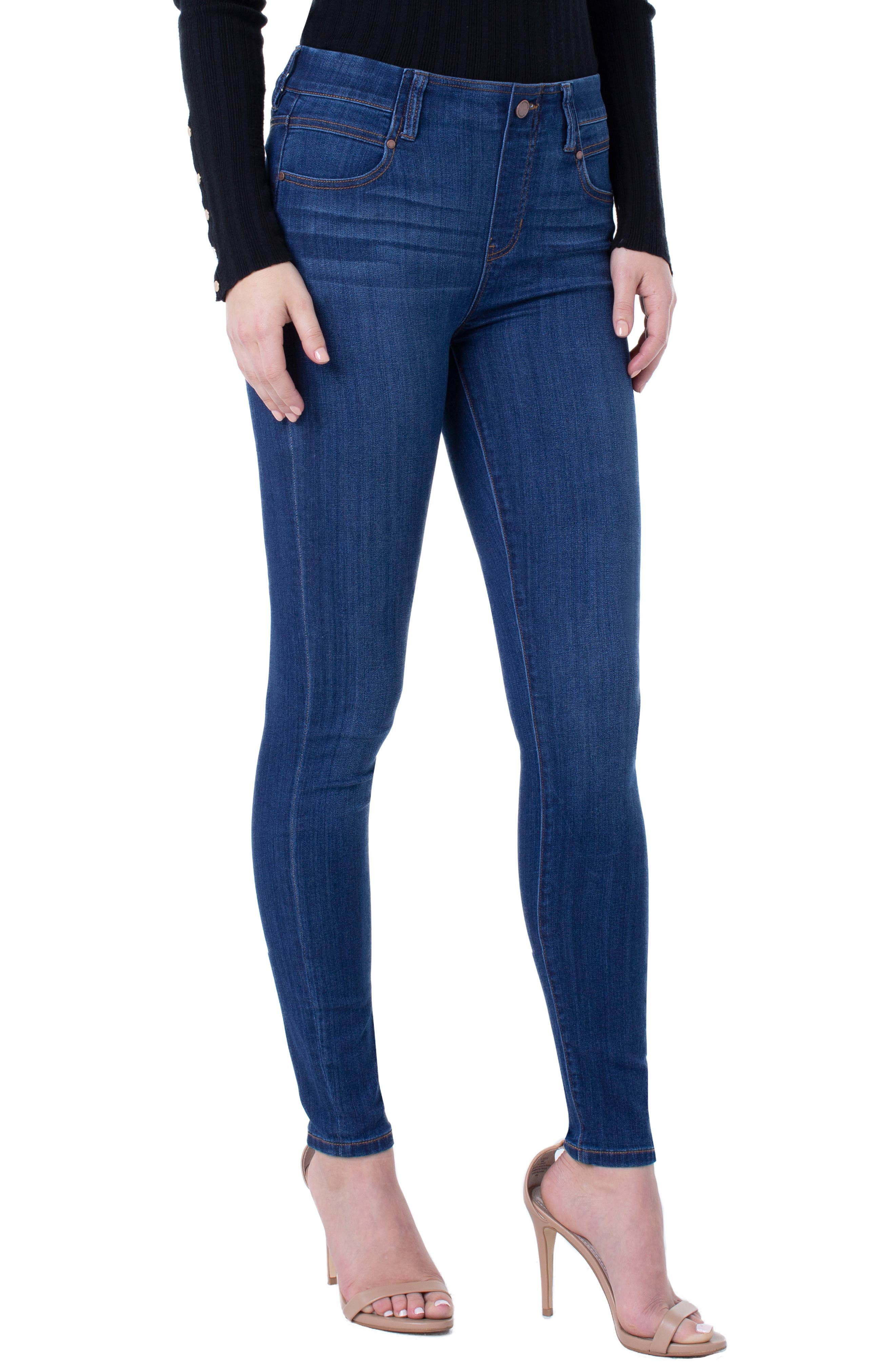 Petite Women's Liverpool Gia Glider Pull-On Skinny Jeans
